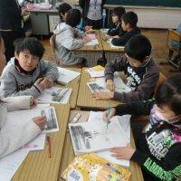 校内研修(6年1組),(4年3組)の授業が行われました。