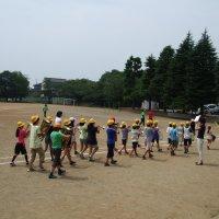鼓笛隊,校庭での練習開始!