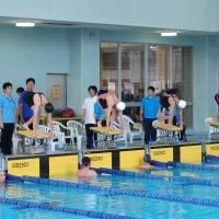 県南総体水泳大会1日目