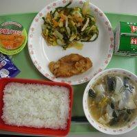 岡田小 食育の日