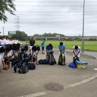 男子ソフトテニス部 関東大会へ出発