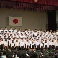 市小中学校音楽会壮行会がありました。