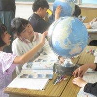 地球儀で学習