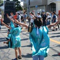 かっぱ祭りダンスパレードがありました。