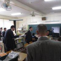 教育委員による学校訪問がありました