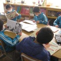 国語の学習で昔話を読んでいます。【1年生)