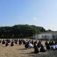 中学校初めての避難訓練