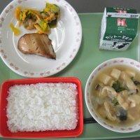 牛久食材:米・玉ねぎ・きゅうり・人参・ねぎ・油揚げ・味噌