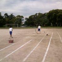 ソフトボール 授業風景