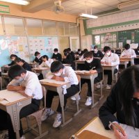 3学年では第四回目の実力テストが行われました。