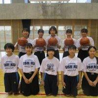 女子バスケ部 目標をもって頑張っています