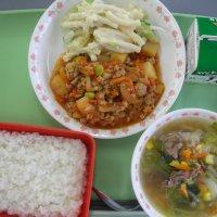 今日の給食☆フィリピン風メニュー☆